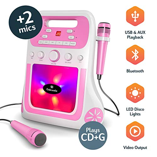 Oakcastle Party Karaoke Machine, CD/CD-R/CD-RW/CDG, Bluetooth connection,...