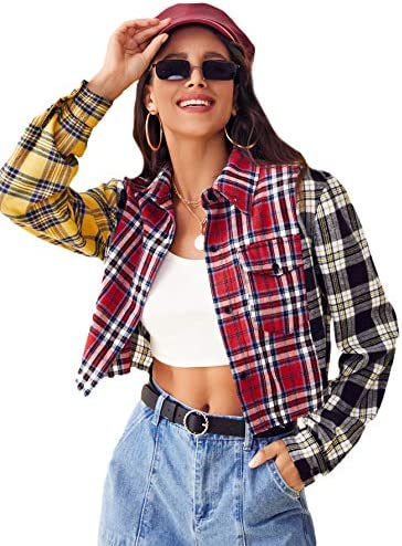 Button down crop tops _image4