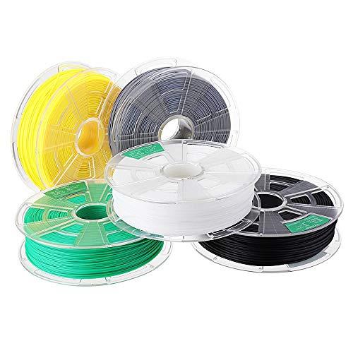 MICEROSHE Filament d'imprimante 3D Pro Noir/Blanc/Gris/Citron Jaune/Vert/Orange/Rose 1 kg/Rouleau 1.75mm ABS for imprimante 3D Filament (Couleur : Rose, Taille : 1.75mm)