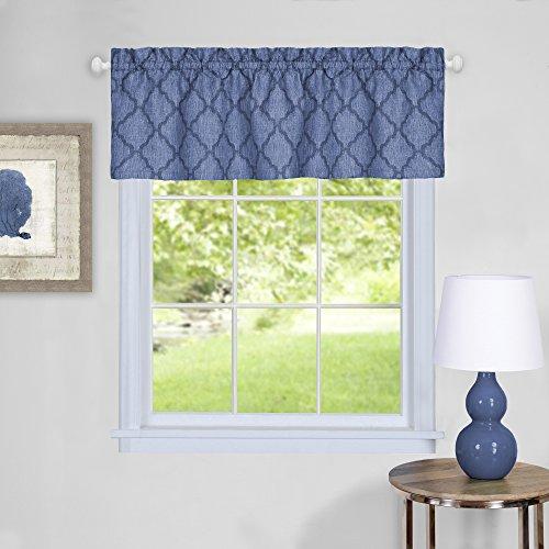"Achim Home Furnishings Colby Window Curtain Valance, 58"" x 14"", Blue"