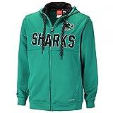 Reebok CCM NHL San Jose Sharks Faceoff Full Zip Hoody, Größe:L