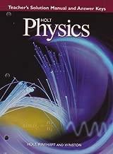 Holt Physics: Teacher's Solution Manual and Answer Keys