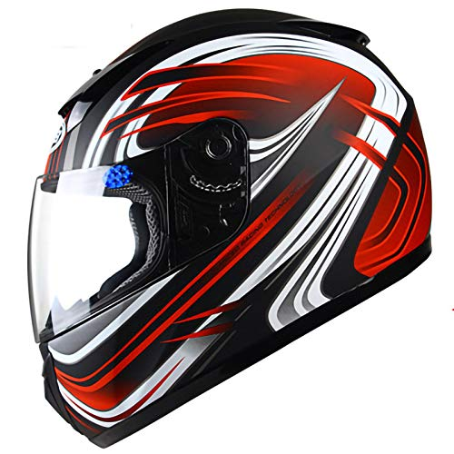 Full Face Motorcycle Crash Helmets,ABS Material Removable Lining DOT/ECE Certification Suitable for Motorcycle Scooters Full Face Motorbike Helmet 6