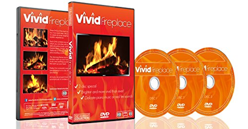 Lebhafte Kaminfeuer DVD – 3 DVD Set mit extra langen Feuern mit warmen Farben und Geräuschen von brennendem Holz