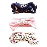 Hocaies Baby Elastic Hasenohren Stirnbänder Haarbänder Baby Mädchen Stirnbänder verknotete Baby Stirnbander Baby Top Knot Madchen Turban Headwrap Knot Stirnband Kleinkind (05)