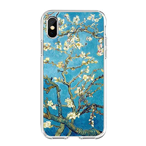 APHT Van Gogh The Starry Night Phone Case Painting Van Gogh Quadro Dipinto Olanda Sunflowers Paint Dipinto Compatibile Protective Case Cover pour Apple iPhone 6-XS/XS Max/XR/119