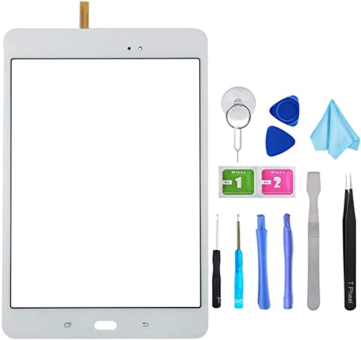 Not Include LCD Pre-Installed Adhesive+Tools Kit White Touch Screen Digitizer for Samsung Galaxy Tab A 10.1 2016 T580 T585 SM-T580 SM-T585 Front Glass Replacement Panel