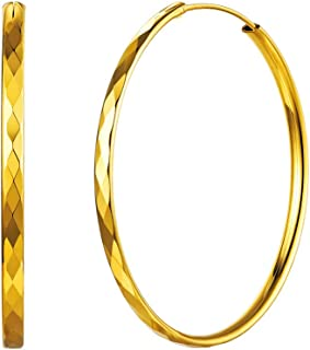 Best large 24k gold hoop earrings Reviews