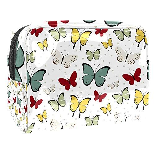 Trousse de toilette multifonction pour femme - Papillon vintage