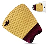 Wave Tribe Cork Surfboard Traction Pad - Eco Stomp Pad, Cork Composite Surf Traction Pad, Stronger Than Plastic, Keeps Feet From Slipping, Soft on Knees, Great Grip, Good For You, Great for the Planet