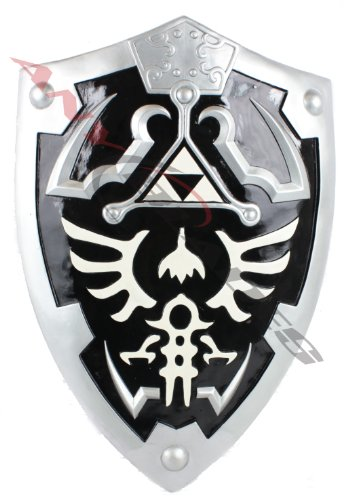 Dark Link Hylian Zelda Shield Full Size with Grip and Handle