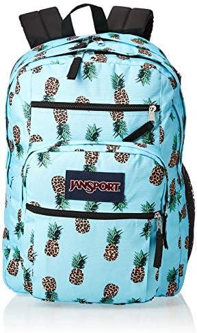 JanSport Big Student Backpack 15 inch Laptop School Bag Leopard Pinapples product image