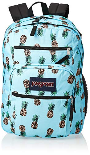 JanSport Big Student Backpack - 15-inch Laptop School Bag, Leopard Pinapples