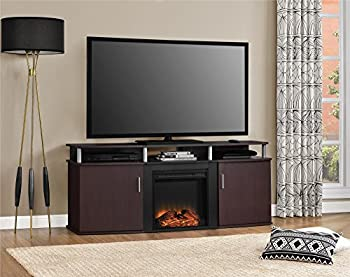 Ameriwood Home Carson Electric Fireplace TV Console for TVs up to 70  Cherry