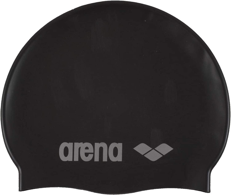 Arenaクラシック91670水泳キャップシリコンブラック