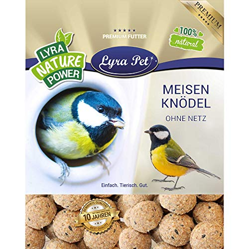 Lyra Pet® 200 x 90 g Meisenknödel ohne Netz HK Deutschland Vogelfutter Ganzjahresknödel Fettfutter Wildvögel Wildvogelfutter