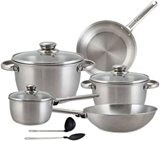 Royalford Cookware Set, Silver, Rf8408, 10 Pieces