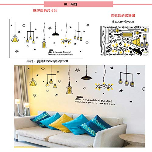 marca blanca Creative ins wind chandelier photo wall stickers living room dormitory net red cafe room decoration self-adhesive paper