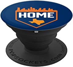 Houston Texas is Home Cool Baseball City Skyline PopSockets Grip and Stand for Phones and Tablets