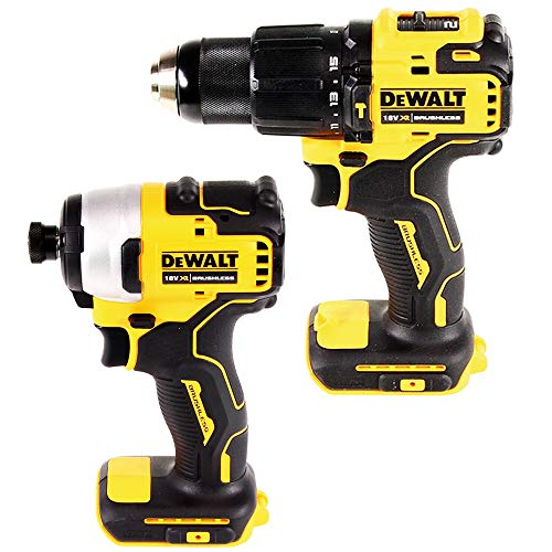 Dewalt DCF809N 18V Brushless Impact Driver with DCD709N Combi Drill Twin Pack