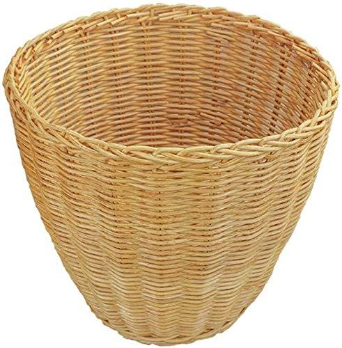 Yxsd Papelera – mesa de tela pequeña, sin tapa, hecha a mano, apta para familias y cocina de hotel (color amarillo)