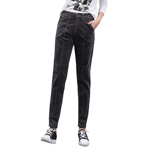 b1878ecd Gooket Women's Stretch Corduroy Skinny Ankle Pants Slim Pencil Pants