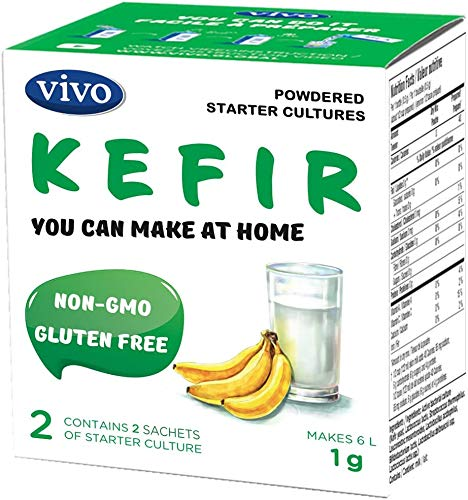 VIVO Kefir Starter with Probiotics (5 boxes) Makes up to 30 quarts of kefir