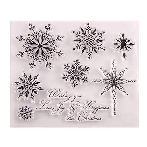 Case Cover Transparent Stempel Schneeflocke-Weihnachts Klare Stempel Gummi Silikon Scrapbooking Für Die Karte Album Craft Decor