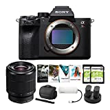 BUNDLE INCLUDES: Sony a7R IV 61MP Full-frame Mirrorless Camera Body, Sony FE 28-70mm f/3.5-5.6 OSS Lens, The Corel Photo, Video, and Art Suite v.3.0, 7-in-1 USB Type-C Hub, Battery and Dual Charger Pack, Lightweight System Case, and two 64GB SDHC Mem...