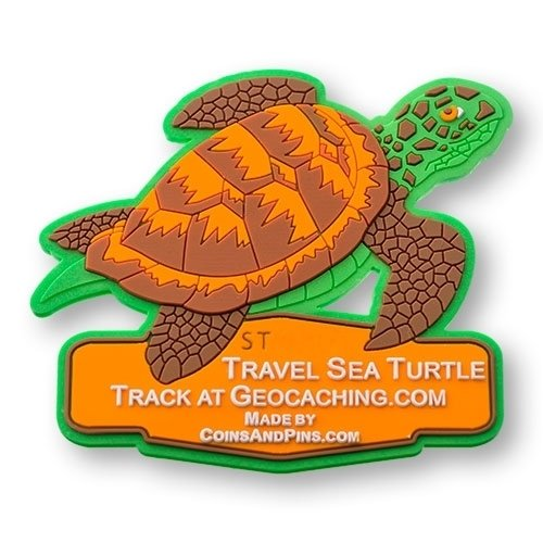 geo-versand Sea Turtle Tag - All Weather Geocaching Trackable Coin