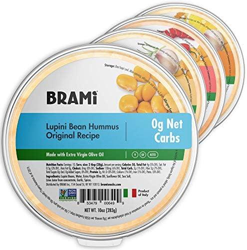 BRAMI Keto Lupini Bean Dip Spread Hummus 0g Sugar 0g Net Carbs Keto Vegan Vegetarian Mediterranean product image