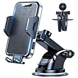 VICSEED [2021 Military-Grade] Car Phone Holder Mount [Never Melt & Fall Off] Universal Cell Phone Holder for Car Dashboard Windshield Air Vent Car Phone Mount Strong Suction Fit for All Mobile Phones cell phone vent holders May, 2021
