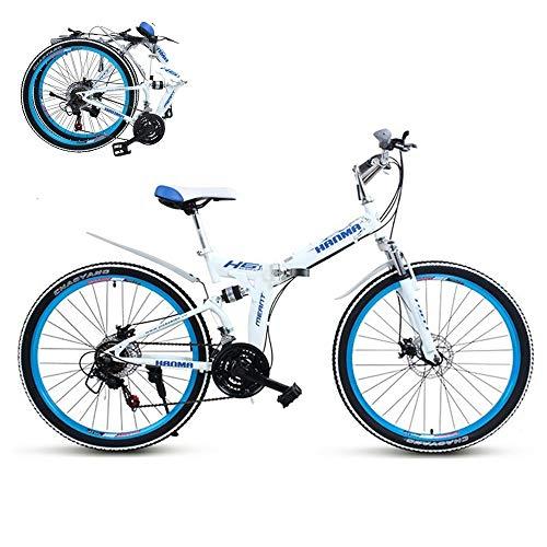 ZPTTBD Adulte Pliable Vélos,Hauteur Guidon...