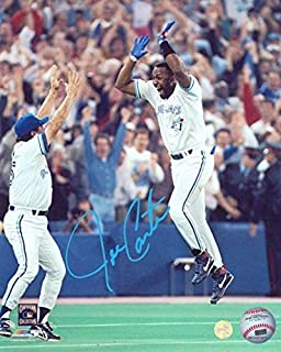 e8f24a58535 Signed Joe Carter Picture - Frameworth 8x10 Celebration - Autographed MLB  Photos
