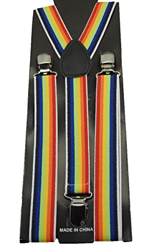 Men's Accmall Clipon Y-Shape porte-jarretelles Bretelles élastiques réglables - Noir - Taille unique