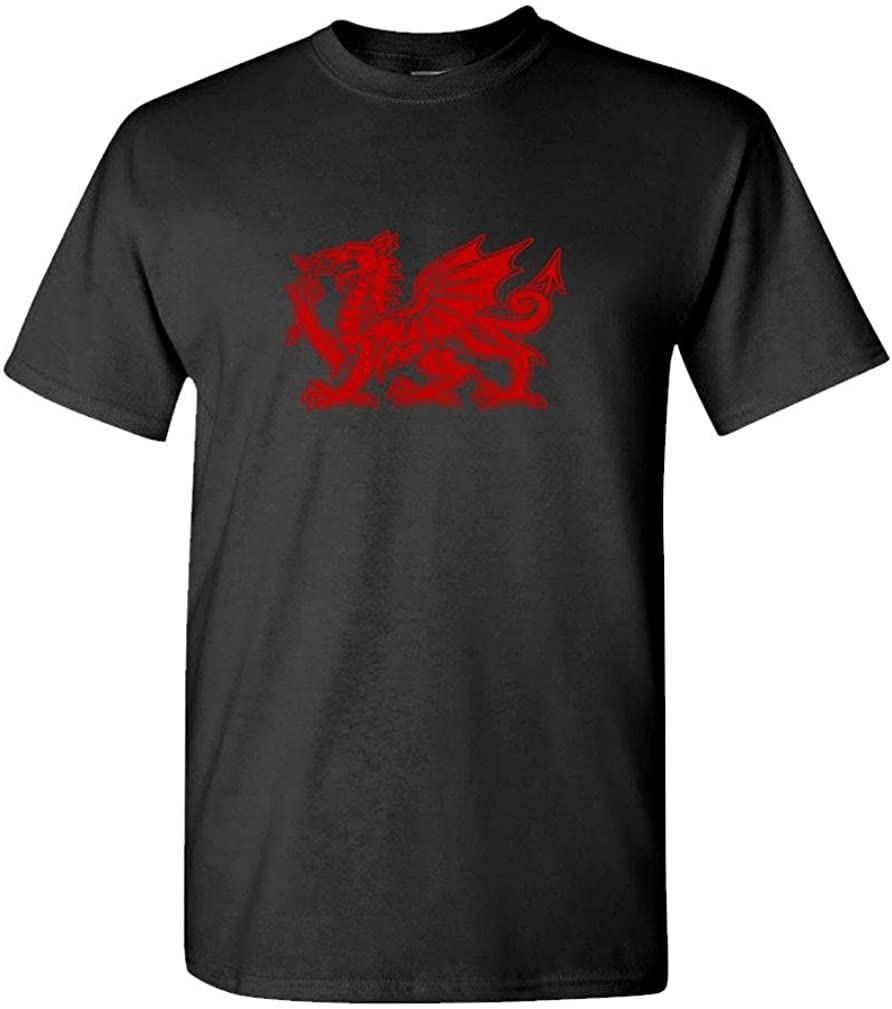 The Goozler - Welsh Dragon - Mens Cotton T-Shirt