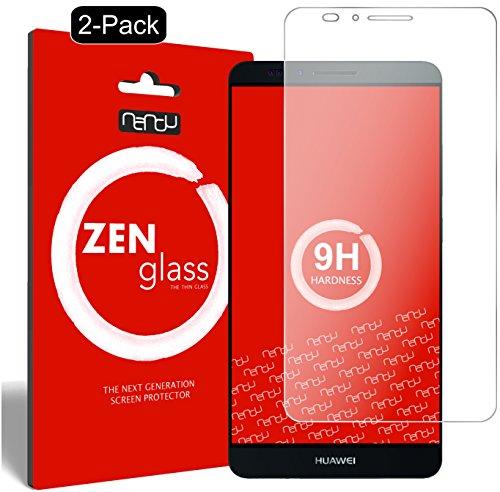 ZenGlass [2 Stück Flexible Glas-Folie kompatibel mit Huawei Ascend Mate 7 Panzerfolie I Display-Schutzfolie 9H