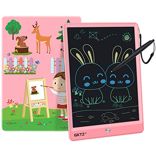 GKTZ LCD Writing Tablet for Kids 10 inch Electronic Drawing Pads Doodle and Scribbler Boards for Boys and Girls Learning Handwriting Painting Notes Board Gifts for Children Ages 3+ Pink