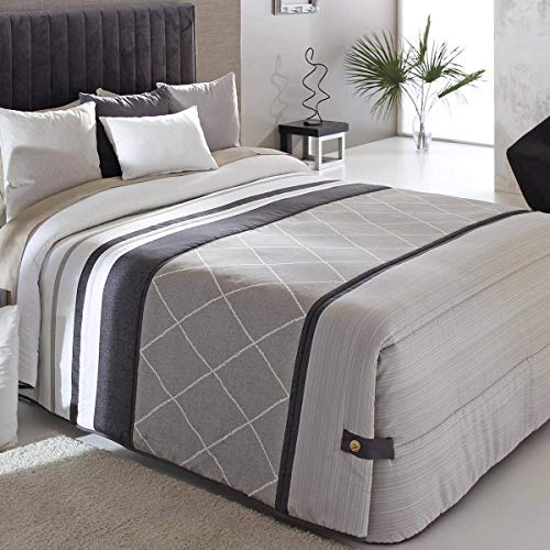 Reig Marti - Edredón Conforter Carson 02 - Cama 135 Cm - Color Beig C01