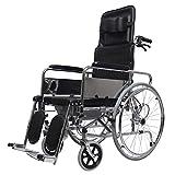 ZL Galvanoplastia Plegable Silla de Ruedas anciana discapacitado Scooter Ligero Silla de Ruedas anciana Pedal Suave
