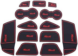 Uokoki 6pcs de Repuesto para Ford Mondeo 2007-2013 Antideslizante Puerta Mat Groove Puerta Ranura Taza del coj/ín Amortiguador de la Cubierta de Accesorios
