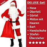 Foxxeo Costume da Babbo Natale per Uomini - Taglia: XXXL - Costume da Babbo Natale