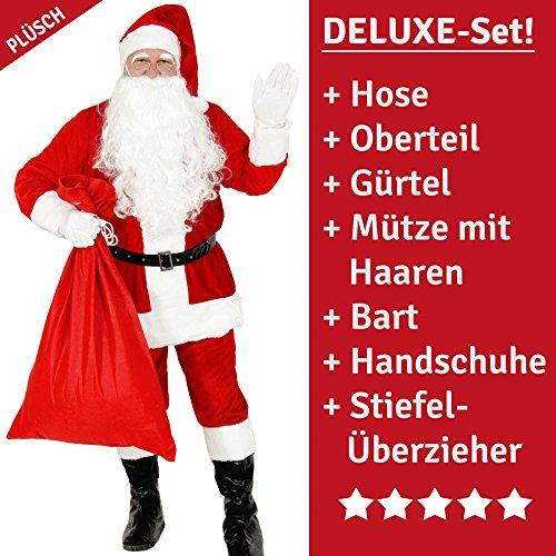 Foxxeo Costume da Babbo Natale Premium per Uomini - Taglia: XXL - Costume da Babbo Natale