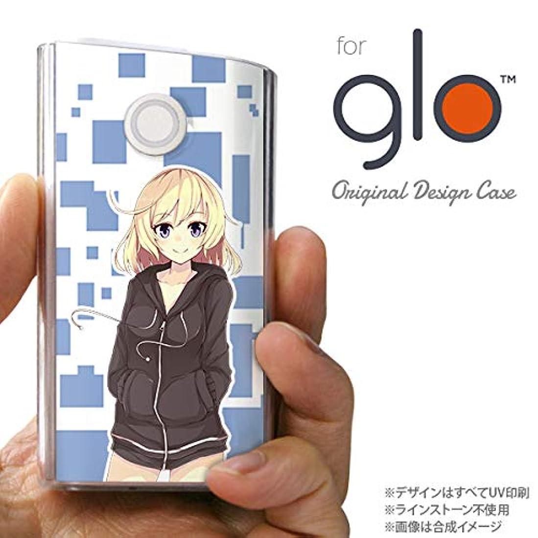より請求可能氏glo グローケース カバー グロー キャラA 青 nk-glo-1325