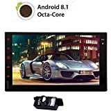 Android 8.1 OS Octa-Core 7 Zoll Doppel-DIN-Autoradio-kapazitiver Touch Screen GPS-Navigation Bluetooth 2 GB