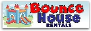 Bounce House Rentals Vinyl Banner 8 Feet Wide by 2.5 Feet Tall