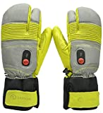 Savior Heated Gloves for Men and Women, Warm Gloves for Cycling Motorcycle Hiking Skiing Mountaineering, Works up to 2.5-6 hours (XS, Green)