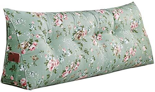 Sängkudde Löstagbar Fast Färg Säng Kudde Gavel Rygg sängen och läsa Pillow bäddsoffa Rygg Positioning Support Kudde Läsa Kudde tatami matta kudde (Color : Green, Size : 120cm)