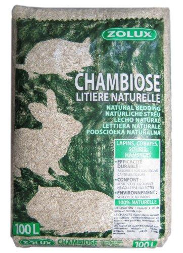 Zolux Chambiose 212310 Hanfstreu 100 Liter für Kaninchen, Meerschweinchen, Mäuse oder Hamster