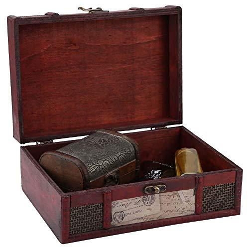 Altmodischer Aufbewahrungskoffer, feine Kunstfertigkeit Handgefertigte Dekoration Handwerk kann als Fotografie Requisiten, Vintage-Stil dekorative Aufbewahrungsbox für Haus und Büro(#2)